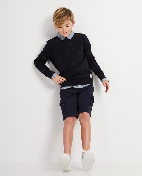 Sweater mit gesticktem Print - I AM - I AM