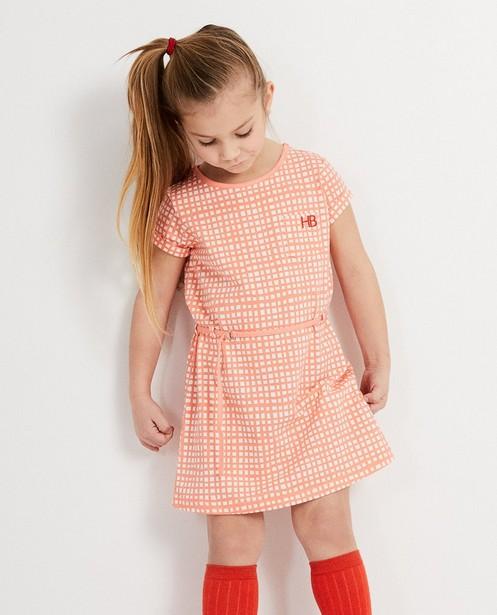 Robes - Oranje kleedje geruit Hampton Bays