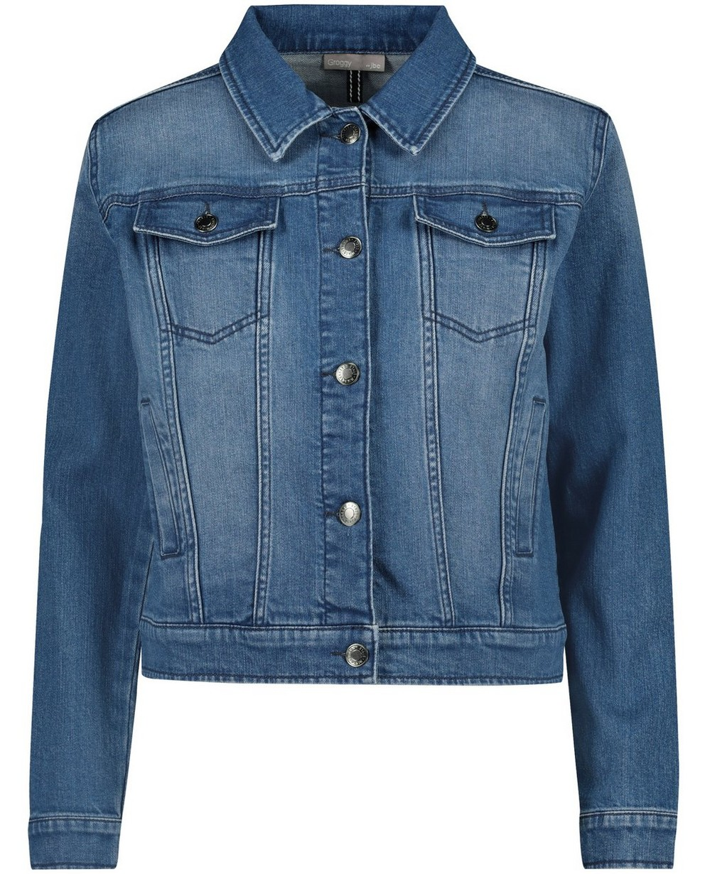 Veste en jeans - inscription au dos - JBC