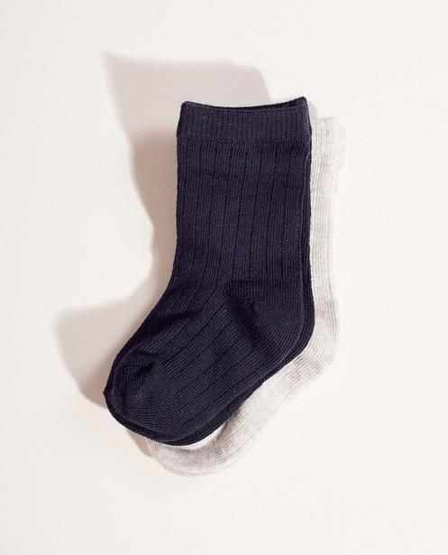 2 paires de chaussettes - motif côtelé - JBC