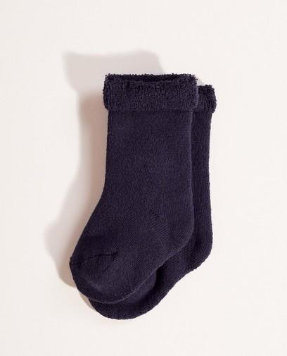 Sokken met bouclé boord