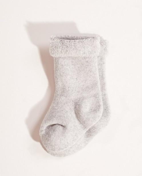 Sokken met bouclé boord - met stretch - Newborn