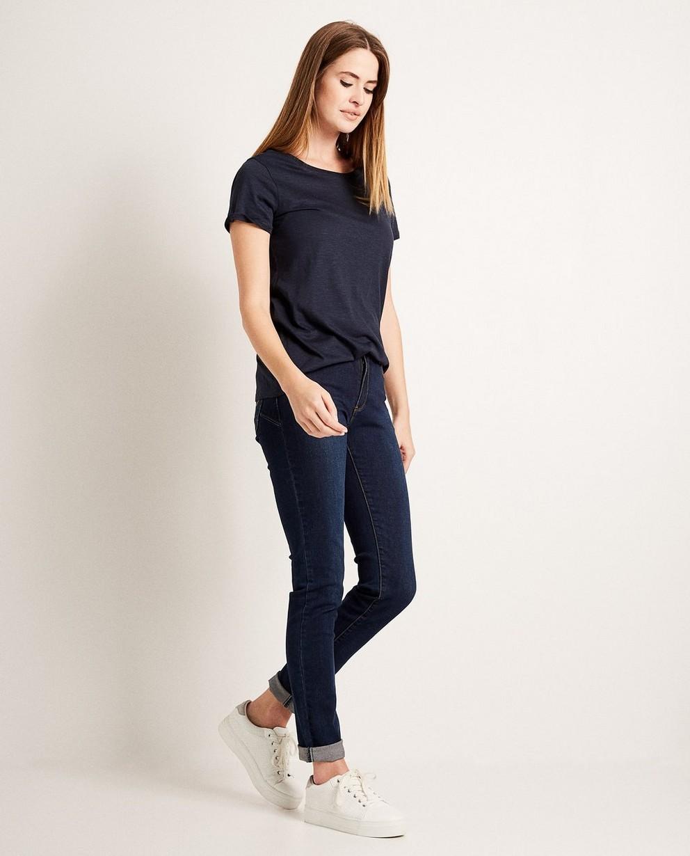 T-shirt avec des biais à paillettes - bleu nuit - JBC