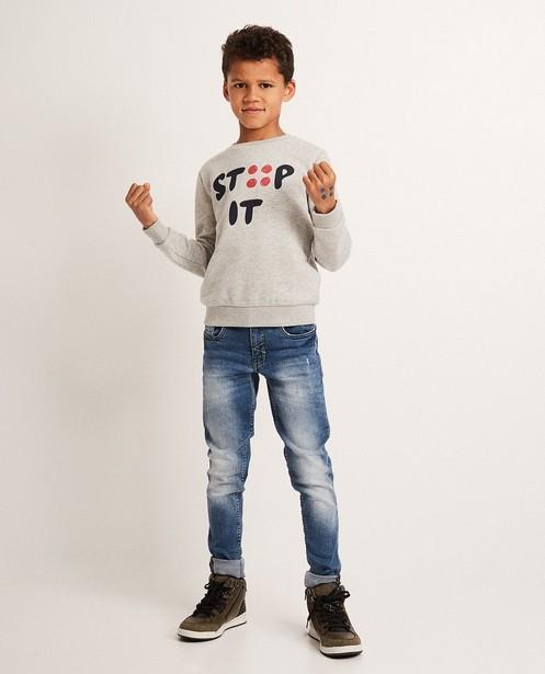 Stip it sweater Ketnet - in lichtgrijs, Ketnet - Ketnet