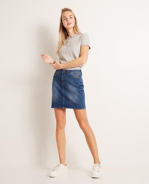 Jeansrock - mit leichter Waschung - Groggy