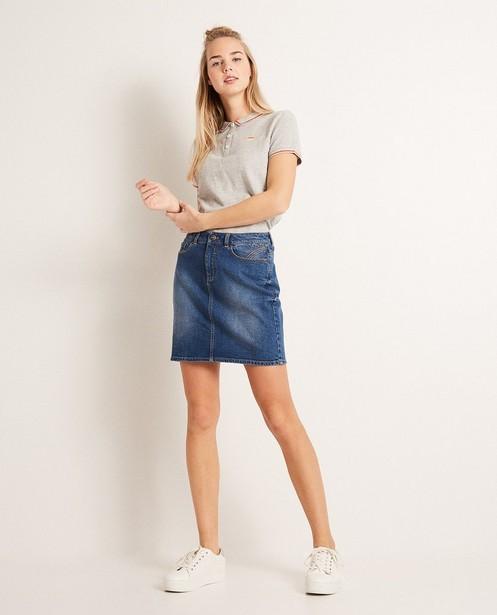 Jupe en jeans - légèrement délavée - Groggy