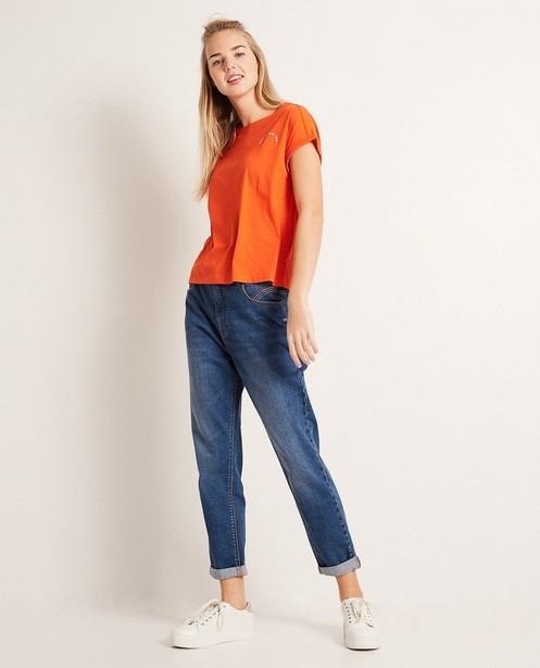 Mom jeans - met lichte wassing - Groggy