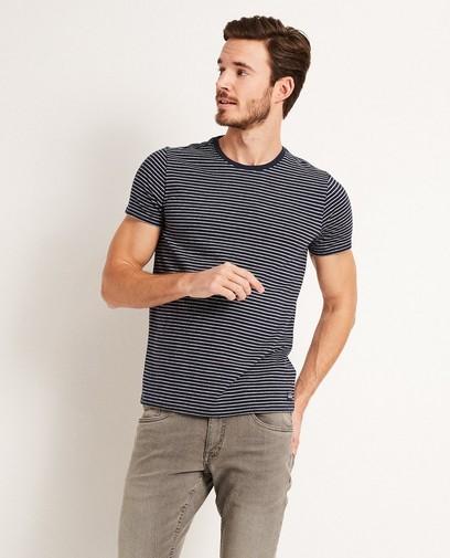 T-shirt, rayures brodées