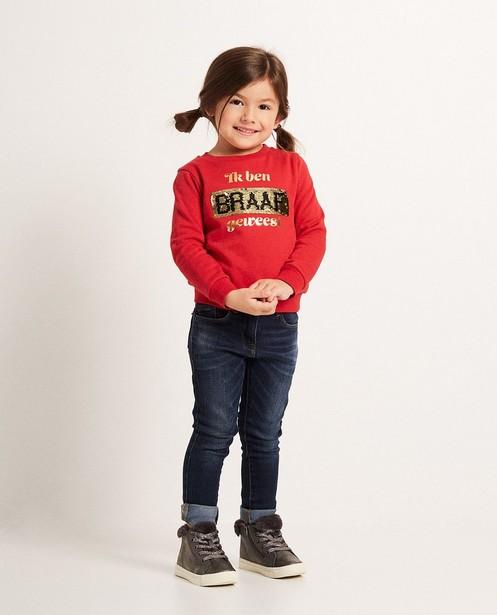 "Roter Swipe-Sweater - ""Dag Sinterklaas"" - sylv"