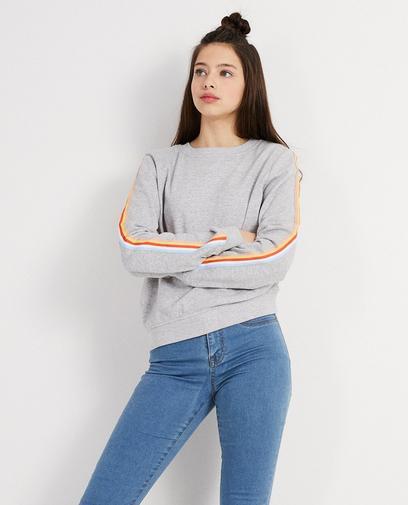 Sweater met kleurrijke strook