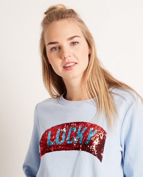 Sweats - Sweater met swipe pailletten