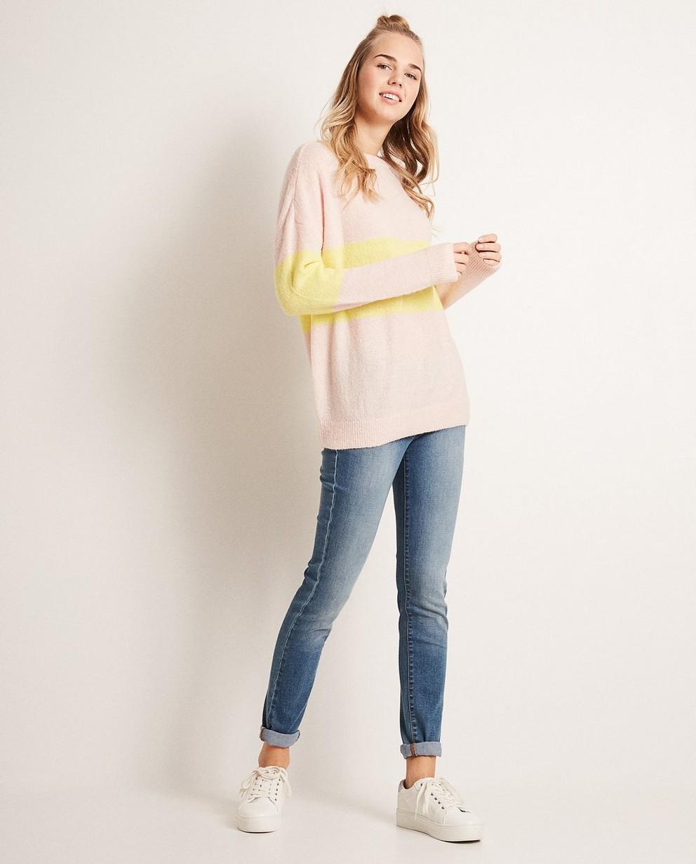 Colour-Block-Pullover aus luxuriösem Wollmix - Leicht oversized - Groggy