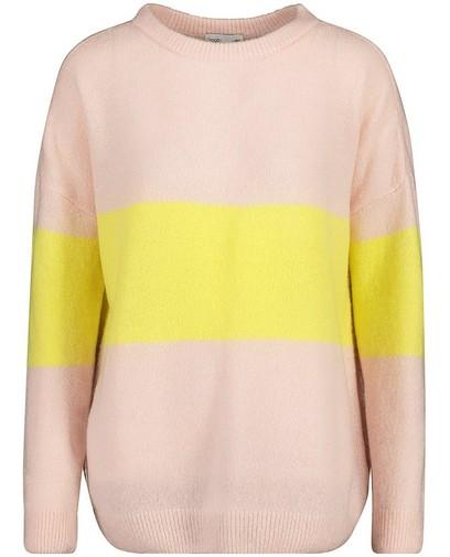 Color block trui van een luxe wolmix