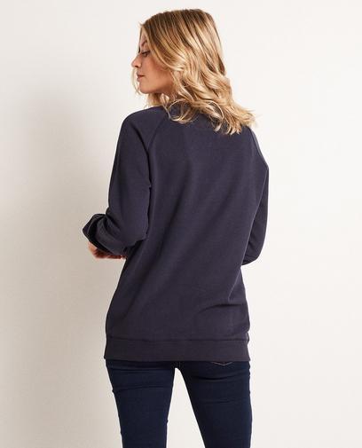 Donkerblauwe sweater 'SIS'