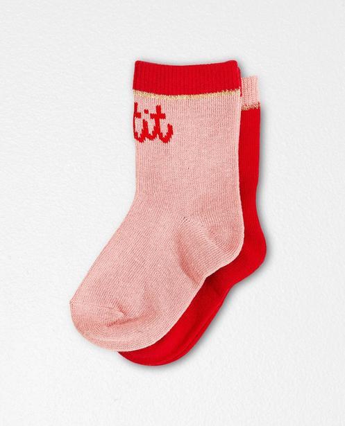2 paires de chaussettes - inscription - JBC