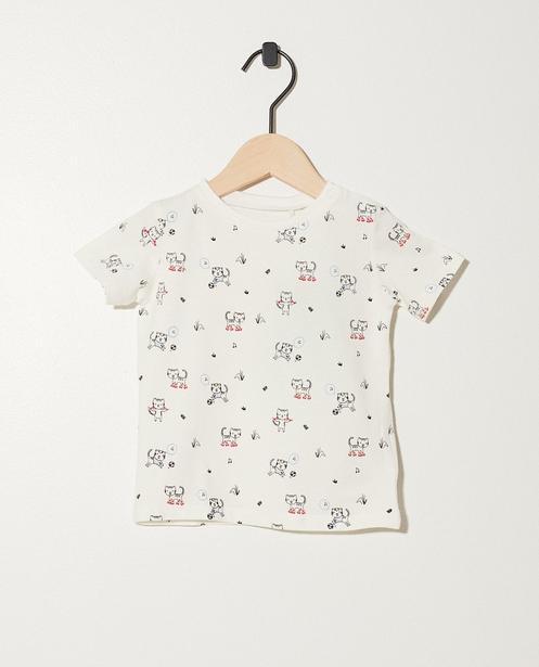 T-shirt en coton bio - imprimé de tigres - JBC
