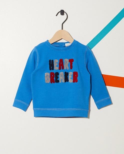 Sweater mit Bouclé-Aufschrift - aus Biobaumwolle - JBC