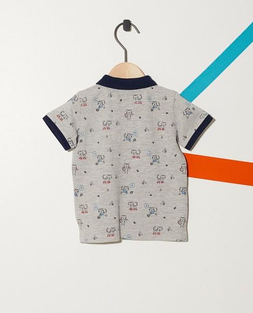 Polos - Grau - Poloshirt mit durchgehendem Print