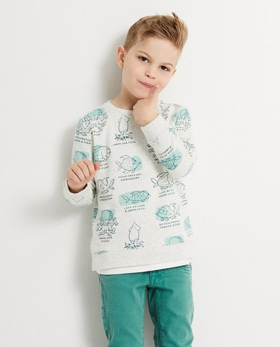 Sweater mit Print Piet Piraat