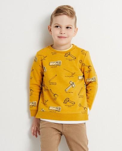 Sweatshirt mit durchgehendem Print Plop