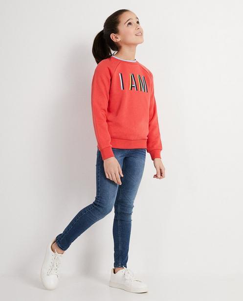 Lyocell Sweater mit Aufschrift I AM - in türkis - I AM