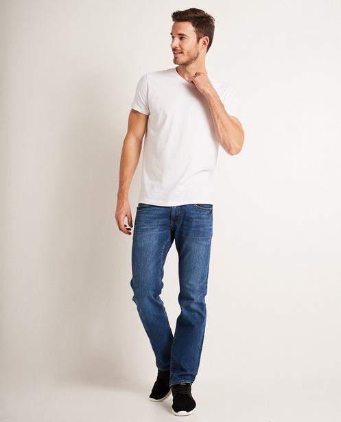 Jeans fitted straight  - BRANDON, délavé - JBC