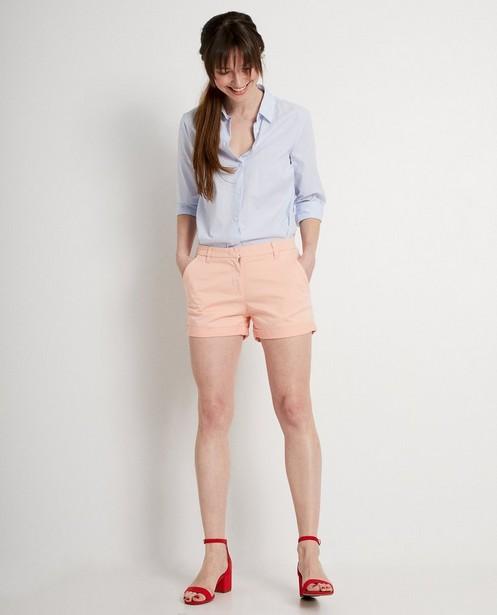 Katoenen short  - In rood - JBC