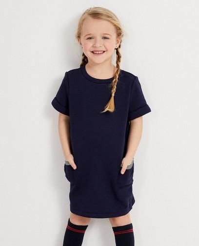 Donkerblauw kleedje met zakken Maya