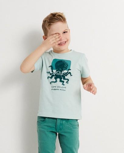 T-shirt met reliëfprint Piet Piraat