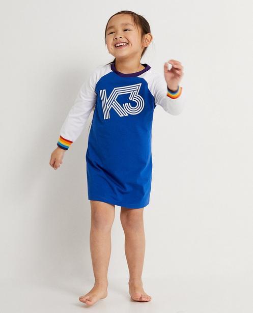 Kleid mit Aufschrift K3 - mit farbakzenten - K3