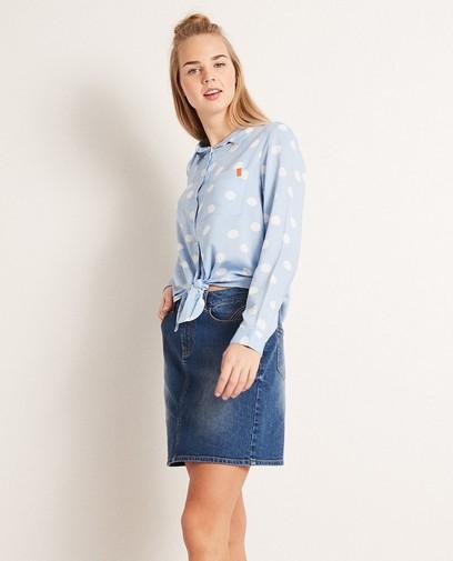 Viscose hemd met polkadotprint