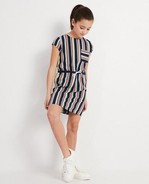 Kleurrijk kleedje met strepen I AM - viscose - I AM