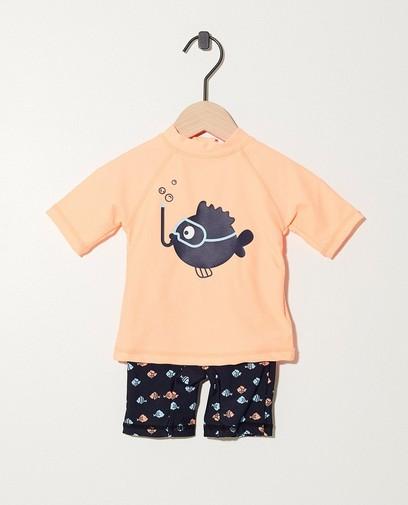 UV-beschermend oranje zwemsetje