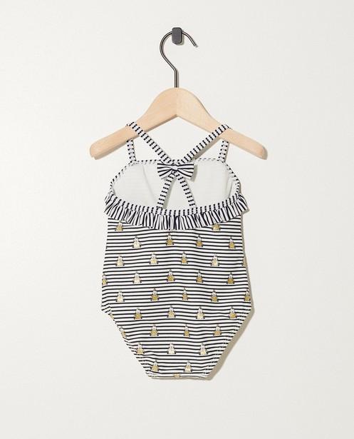 Zwemkleding - AO3 - Blauw badpak met witte strepen Bumba