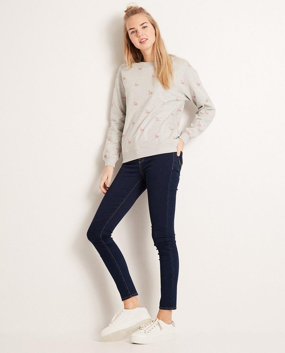 Sweater met allover print - van een katoenmix - Groggy
