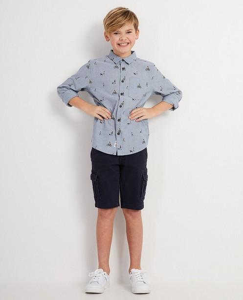 Biokatoenen jeanshemd met print I AM - I AM - I AM