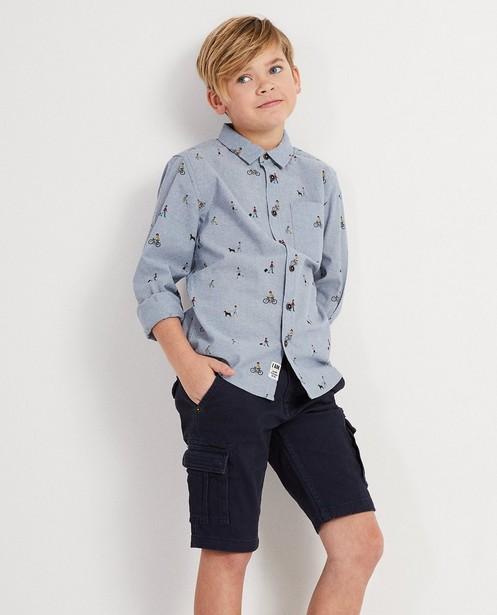 Hemden - BLL - Biokatoenen jeanshemd met print I AM