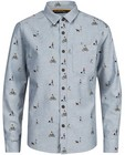 Hemden - Biokatoenen jeanshemd met print I AM