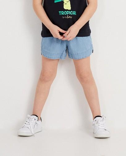 Jeansshort met tunnelkoord
