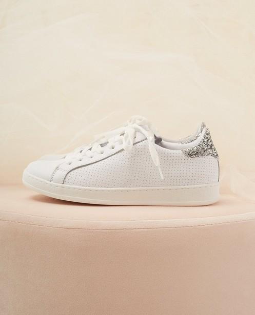 Sneaker Kommunion, Größe 30-37 - mit silbernem Glitzer - Milla Star