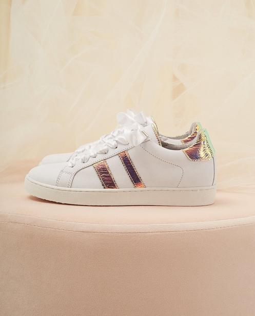 Sneaker aus Leder Kommunion - mit Schnürsenkel aus Satinband - Milla Star