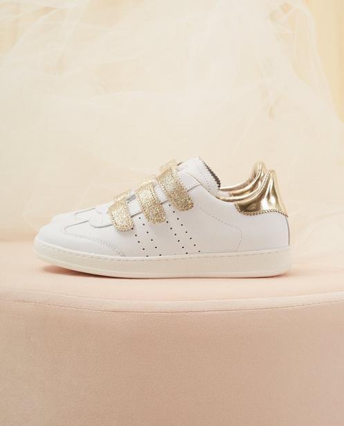 Sneaker Kommunion, Größe 30-37 - mit Goldglitzer - Milla Star