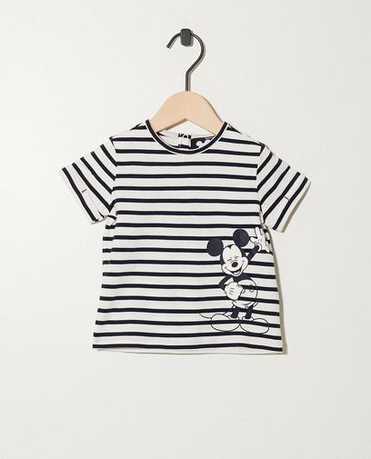 T-shirt rayé à imprimé Mickey
