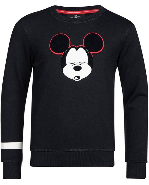Sweater mit Reliefprint - Mickey - Mickey