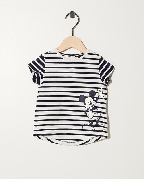 T-shirt rayé à imprimé Mickey - Mickey - Mickey