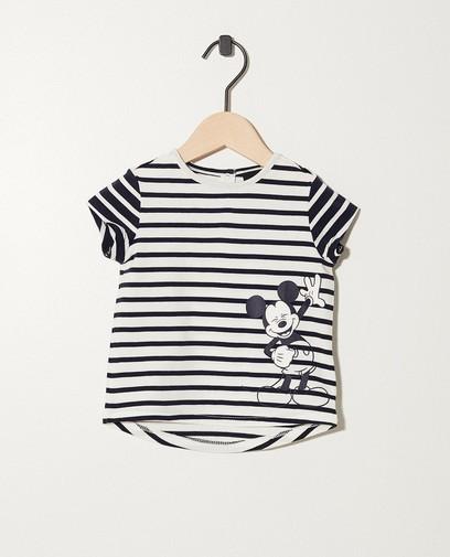 Gestreept T-shirt met print Mickey