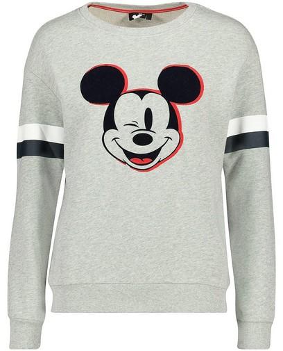 Sweater mit Print und Streifen