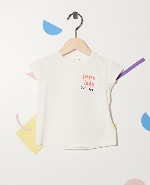 T-shirt en coton bio - inscription brodée - JBC