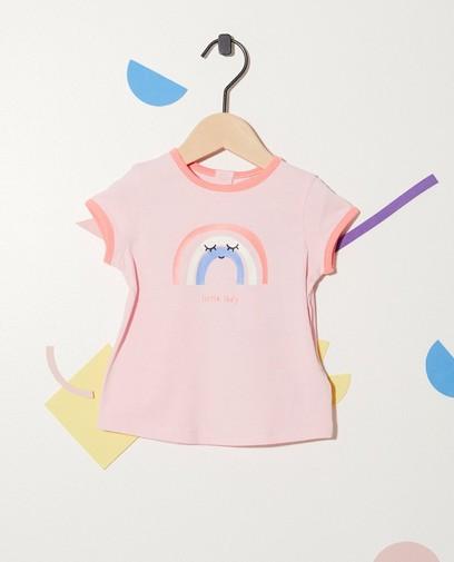 T-shirt met regenboogprint