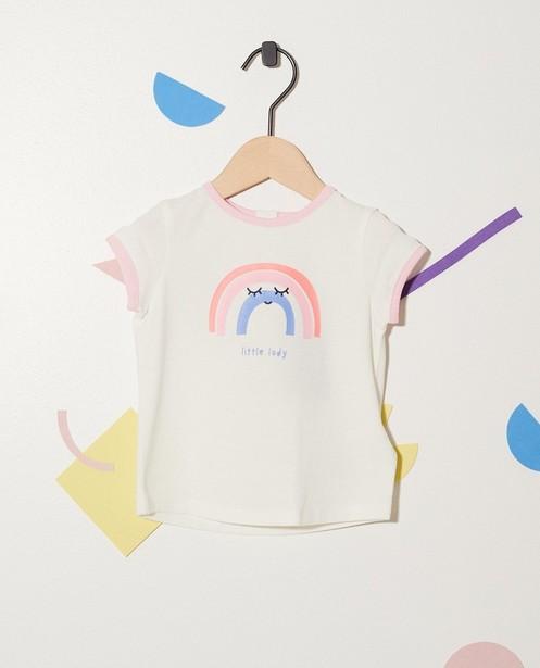 T-shirt en coton bio - imprimé d'arcs-en-ciel - JBC